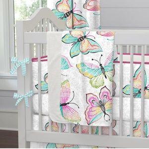 Carousel Designs Bright Damask Butterflies